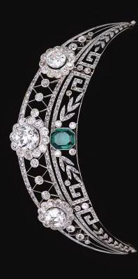 Emerald and Diamond Tiara from a German noble family