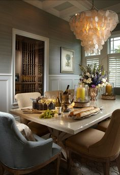 Coastal Dining Room #dining room