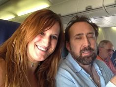 Nicolas Cage is not in a mood for a selfie.