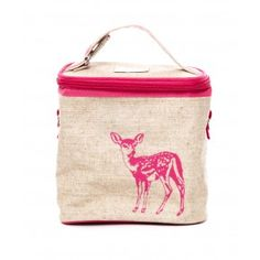 Small Cooler Bag Fawn - Head of the Class - Browse - girls Jute Lunch Bags, Jute Bags, Small Cooler, Oh Deer, Designer Kids Clothes, Cool Gifts, Just In Case, Gifts For Him, Baby Kids
