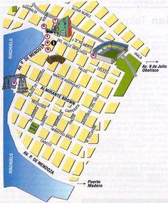 Mapa turistico - La Boca Buenos Aires