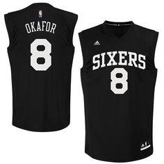 76ers 8 Jahlil Okafor Black Fashion Replica Jersey 25a75e11e