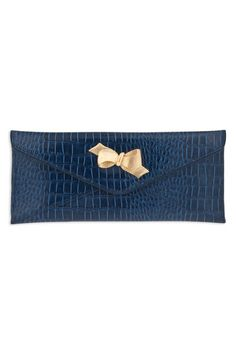 Another something blue for the wedding - Lilly Pulitzer crocodile bow tie clutch!