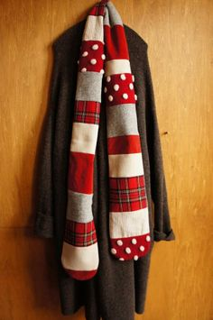 red patchwork scarf