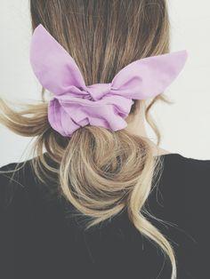 Lavender Bloom Bunny Ear Scrunchie Braid Accessories, Tie Headband, Floral Hair, Weekend Outfit, Scarf Hairstyles, Top Knot, Fine Hair, Hair Ties, Scrunchies
