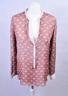 vintage koszula w pieski ZARA