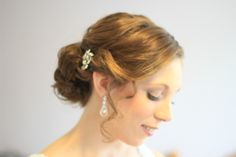 bridal hair low vintage soft hairstyle. Hair & make-up by Amelia www.ameliagarwood.com