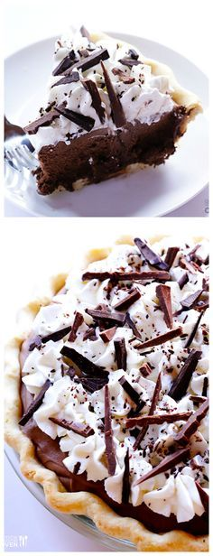 French Silk Pie (Chocolate Pie) -- much easier to make than you may think, and ridiculously good | gimmesomeoven.com