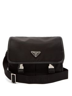 3c0a6a7c050b Prada Logo nylon messenger bag Prada Messenger Bag, Prada Men, Nylon Bag,  Long