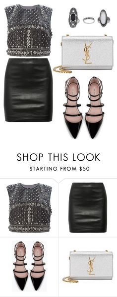 """""""Untitled #805"""" by mala-palcica ❤ liked on Polyvore featuring Alberta Ferretti, The Row, Zara, Yves Saint Laurent and Topshop"""
