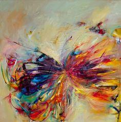 "Saatchi Online Artista: Victoria Horkan;  Petróleo, 2011, Óleo ""Serie 1 de la mariposa"":"