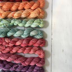 🌷Today these skeins are going all the way to Bulgaria!, to be used for the #westknitskal. • Happy Monday 💕 • #miniskeins #yarn #handdyedyarn #merinowool #silk #indiedyer #handdyed #crochetersofinstagram #knittersofinstagram #crochetaddict #crochetfun #yarnlove #yarnaddict #yarndyer #craftastherapy #crochet #haken #hekle #crochetfun #crochetlove #virka #virkat #ganchillo #unicetto #myowndyedyarn #speckleandpopmkal #wooldyeing#crochetconcupiscence