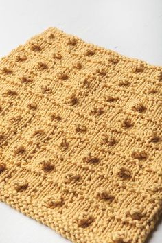 Popcorn Squared Dishcloth - Knitting Patterns and Crochet Patterns from KnitPicks.com