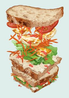 Halloumi Sandwich by melora on @DeviantArt