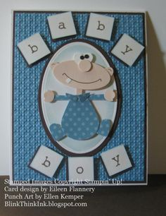 While away on ourscrapping weekend, Jenifer asked if any of us had brought baby stamps since she needed a card for an upcoming baby shower....