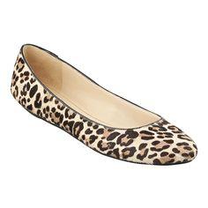 Leopard print flats for a casual look