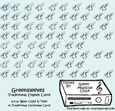 Greensleeves A K A What Child Is This Ocarina Music Ocarina Tabs Easy