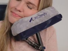 Trying to snooze in a cramped airline seat? You can use this pillow that cradles your face and keeps you from drooling on your neighbor.