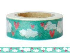 Masking Tape - Washi Tape HERZEN - ein Designerstück von Fitzi-Floet bei DaWanda