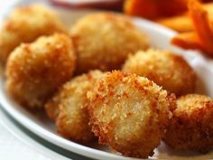 Make Some Delicious Breaded Deep-Fried Scallops - fried scallops - Fish Dishes, Seafood Dishes, Seafood Recipes, Main Dishes, Cooking Recipes, Clam Recipes, Pureed Recipes, Pureed Food, Dinner Recipes