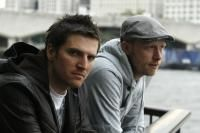 Andy Powell and Peter Rogers, aka Technimatic, photographed on the South Bank for promo use