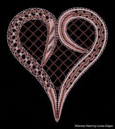 Bobbin Lace Patterns, Lacemaking, Lace Heart, Point Lace, Needle Lace, New Crafts, Lace Design, Irish Crochet, Textile Art