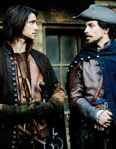 D'Artagnan & Aramis. Luke Pasqualino & Santiago Cabrera. Double dose of handsomeness. Is that even a word?