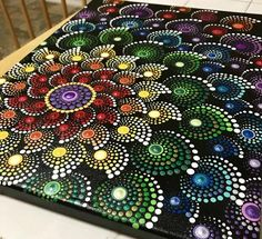 All in dots. Finished touch with krylon UV resistant clear acrylic coating. Chakra Healing, Mandala Art, Clear Acrylic, Art Images, Photo Art, Original Paintings, Dots, Rainbow, Handmade