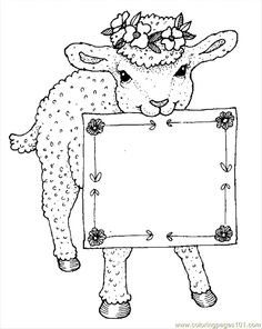 Sheep Outline Drawing Coloring