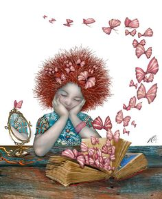 Vuela la libertad entre las páginas del libro (ilustración de Nerina Canzi)