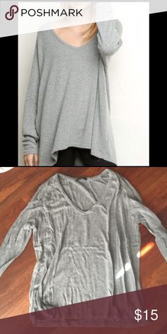 Gray wool brandy Melville sweater Warming sweater Brandy Melville Sweaters V-Necks