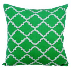 Green Envy - Embroidered Green Silk Pillow. Check it out.
