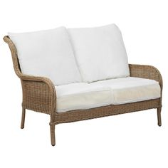 Hampton Bay Lemon Grove Patio Loveseat With Cushion Insert (Slipcovers Sold  Separately)