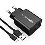 Review for USB Ladegerät, BlitzWolf 18W USB Netzteil Wand Adapter mit 1m 2.4A Micro USB Kab... - Alexander Kurtz  - Blog Booster