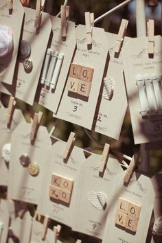 #wedding #table #Escort cards