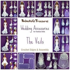 Part 3 - Wedding Accessories - Veils Crochet Pattern for Fashion Dolls