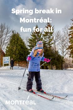 Get ready for this spring break in Montréal. Ice skating, sledding, snow tubing and all kinds of winter activities make outdoor adventuring lively and memorable for everyone. Winter Activities, Family Activities, Things To Do, How To Memorize Things, Sled, Ice Skating, Spring Break, Montreal, Outdoor