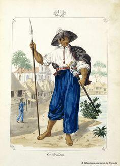 Cuadrillero. Lozano, José Honorato 1821- — Dibujo — 1847