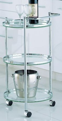 Organize It All 3Tier Circular Serving Cart ** To view further for this item, visit the image link.