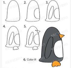 Dibuja paso a paso un pinguino        Como hacer dibujo de un gatito     Como hacer dibujos para niños     Como hacer dibujos para niños ...