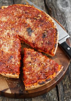 Meat-eaters Deep Dish Skillet Pizza