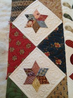 Clare Cross has made this beautiful 'Grove Documentation' quilt.  Clare started a class at Primarily Patchwork in 2005 and her stunning sewing has clearly done credit to this wonderful design. Quilted by Katrina's Quilting.