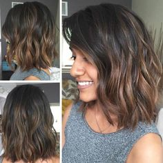 Medium Bob with Copper Balayage