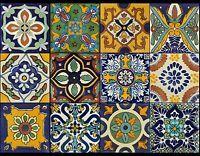 Wall Tile Sticker Kitchen Bathroom Decorative Decal : Mexican Talavera Trmix002