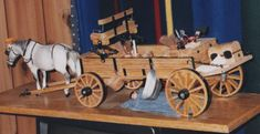 This superb model of a Yellowstone Coach was built by Dale Ford of Redding. Small Hinges, Wooden Wagon, Graffiti Wallpaper, Covered Wagon, Scroll Saw Patterns, Wood Carving, Virgo, Toys, Ideas