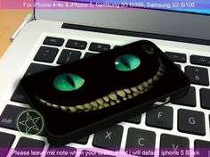 Alice in Wonderland Cheshire Cat Smile iPhone 4/4S/5, Samsung S4/S3/S2 case cover | sedoyoseneng - Accessories on ArtFire