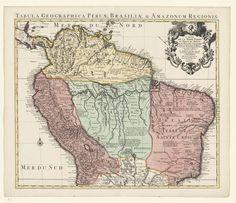 Kaart van het noordelijk deel van Zuid-Amerika, Guillaume Delisle, 1721 - 1742