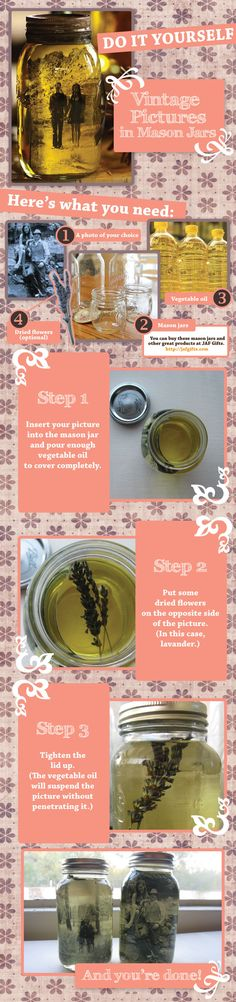 AreaderZ » DIY: Vintage Pictures in Mason Jars