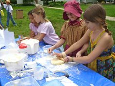 Year 1--Pioneer Day Activities: Candle dipping, biscuit making, leather stamping and more!
