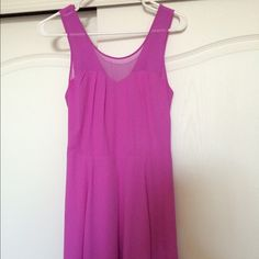 Magenta Express Dress This magenta dress has a sheer layer above the sweetheart neckline and an overall fit and flare style Express Dresses Midi